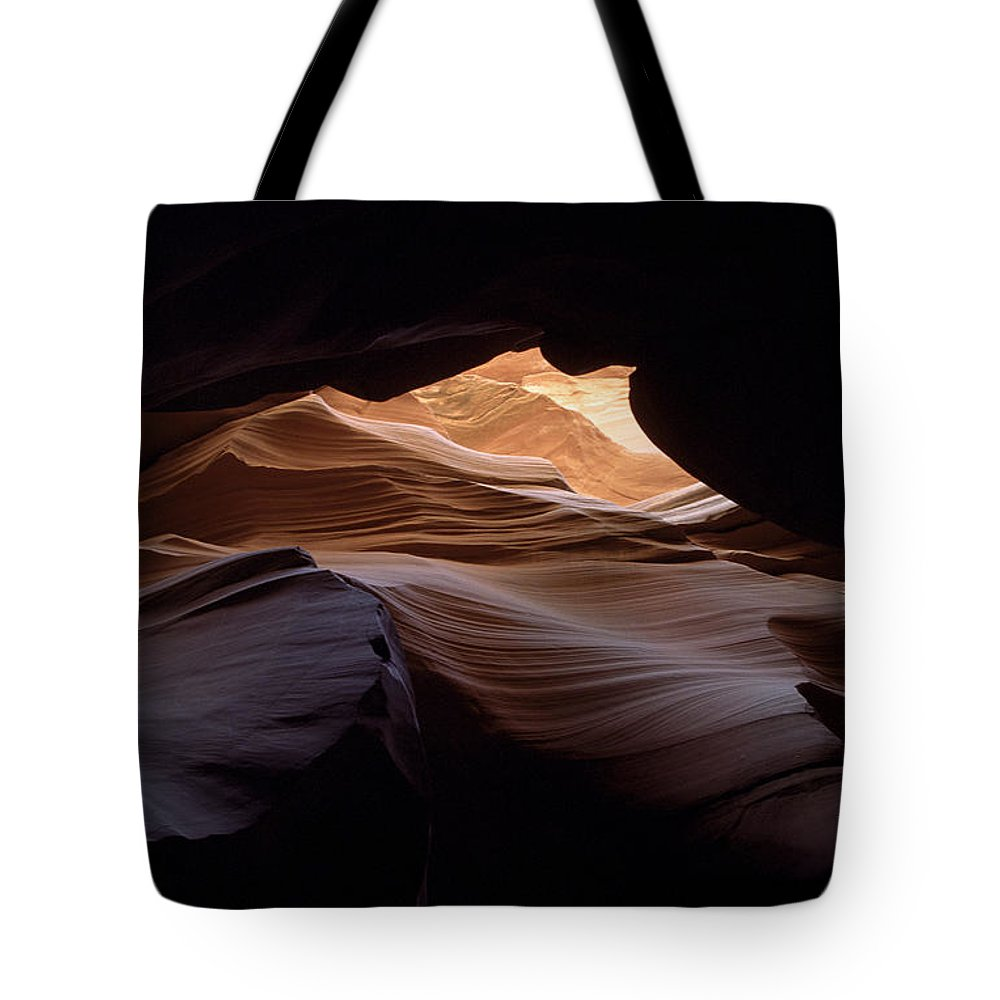 Antelope Canyon Tote Bag featuring the photograph Wind And Water by Kathy McClure