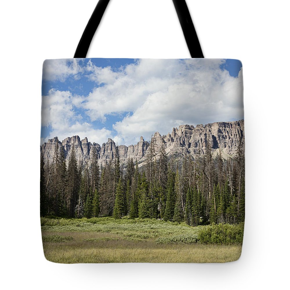 Wind Tote Bag featuring the photograph Wind River Mountains by Hugh Smith