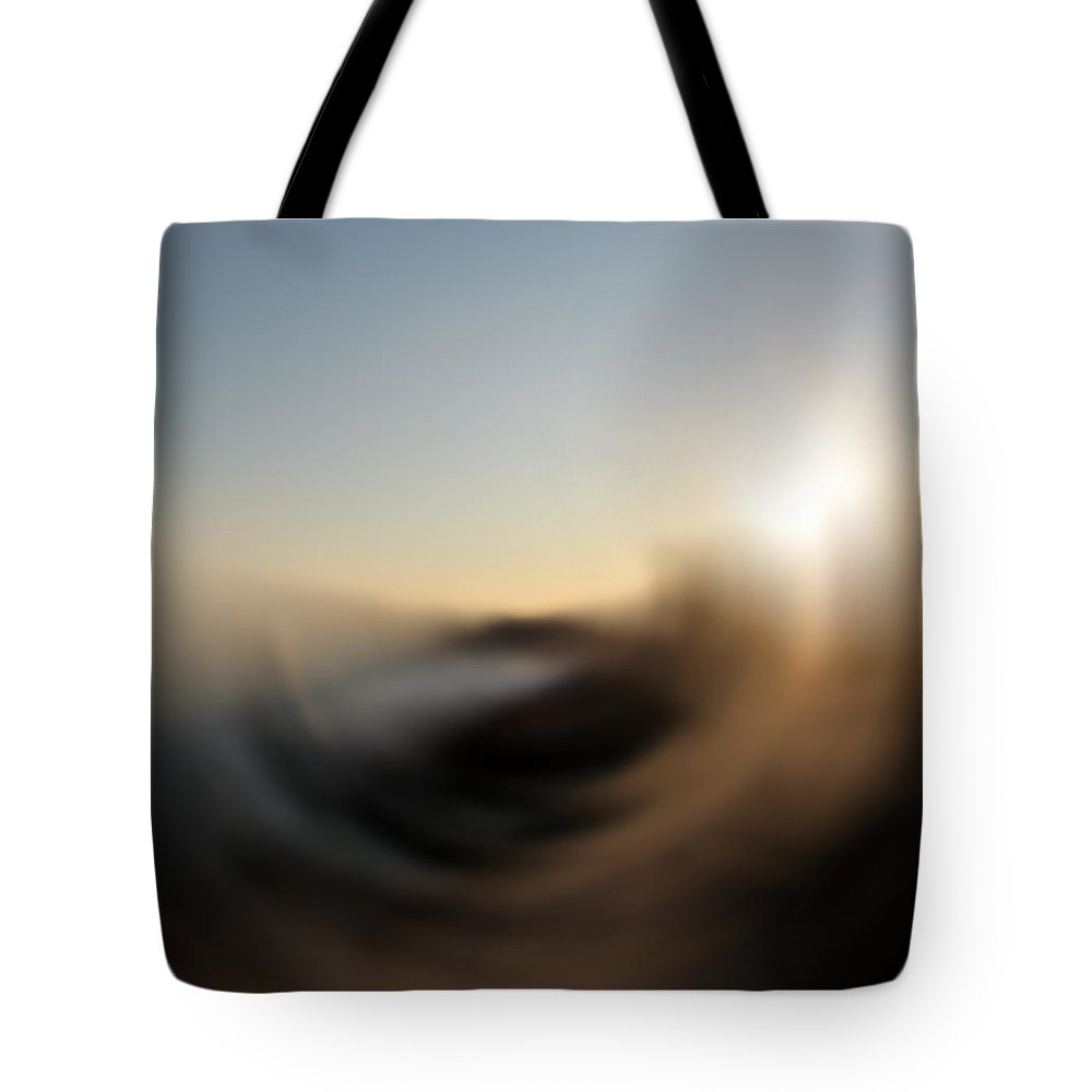 Abstract Tote Bag featuring the digital art Wind by Stacey May