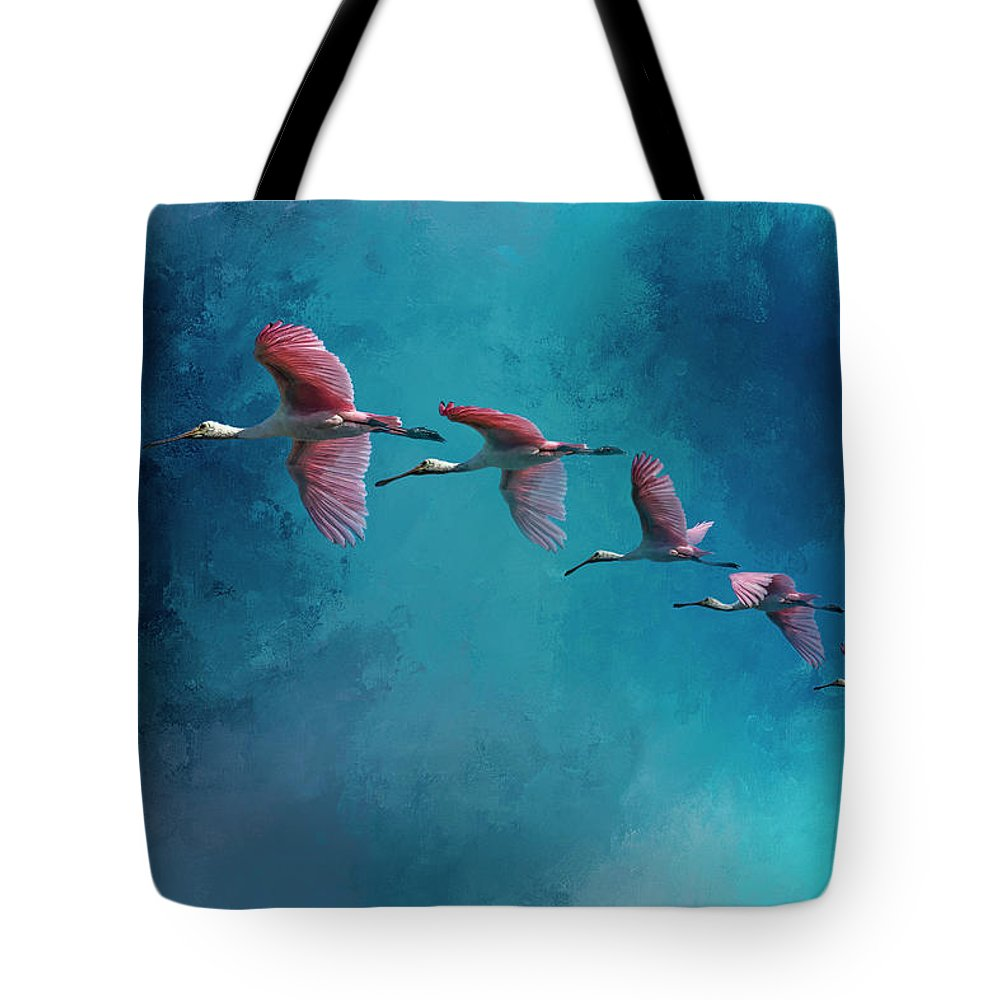 Spoonbill Photographs Tote Bags