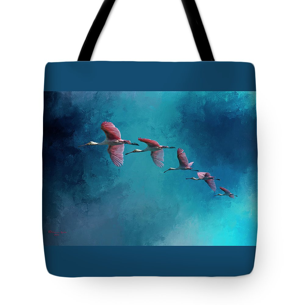 Wildlife Tote Bag featuring the photograph Wind Surfing by Marvin Spates