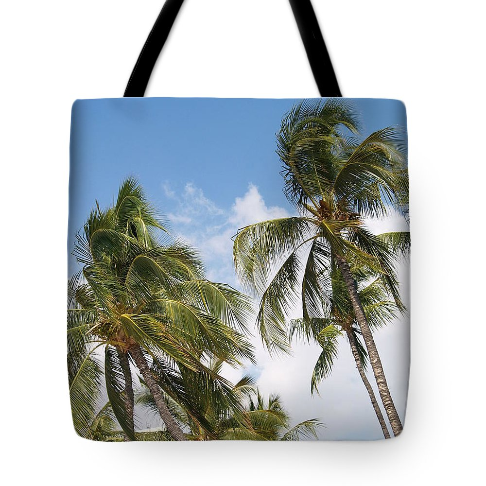 Scenic Tote Bag featuring the photograph Wind Though The Trees by Athala Carole Bruckner