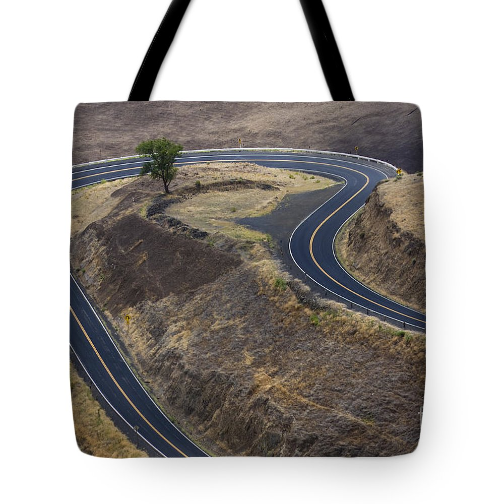 Road Tote Bag featuring the photograph Winding Road by Idaho Scenic Images Linda Lantzy