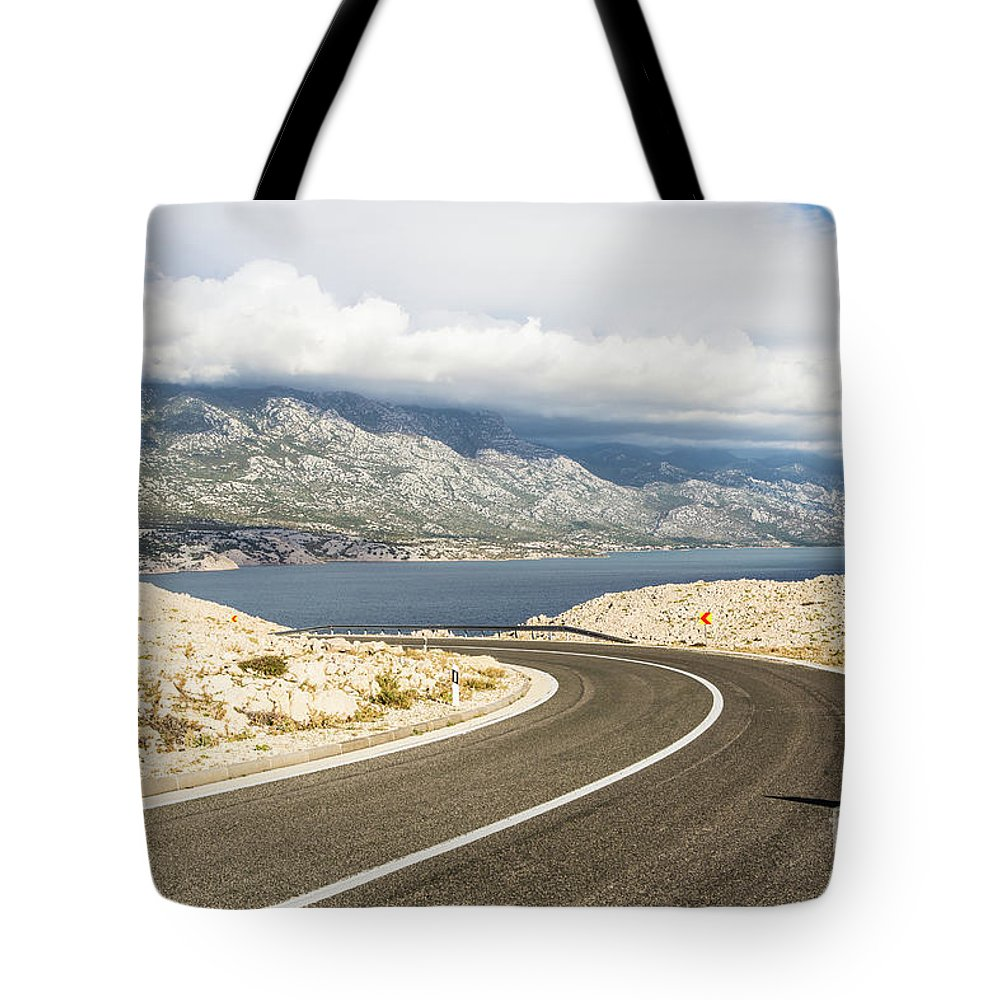 Balkans Tote Bag featuring the photograph Winding Road In Croatia by Didier Marti