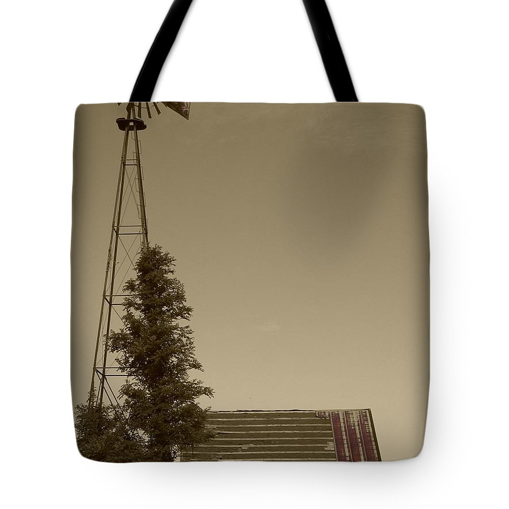Landscape Tote Bag featuring the photograph Windmill II by Dylan Punke