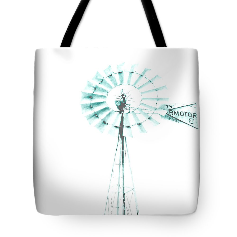 Aermotor Tote Bag featuring the photograph Windmill In Blue by Susan Elizabeth