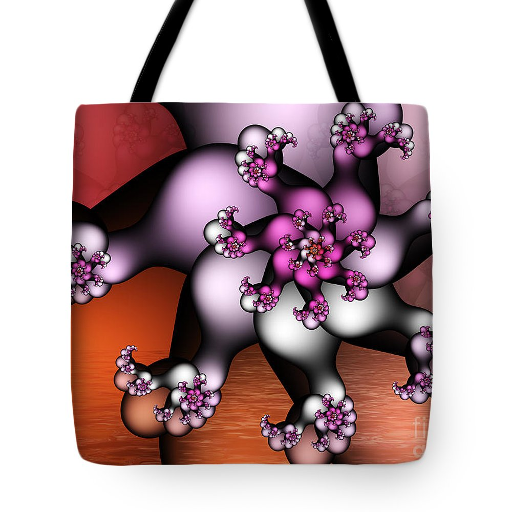 Fractal Tote Bag featuring the digital art Windmill by Jutta Maria Pusl