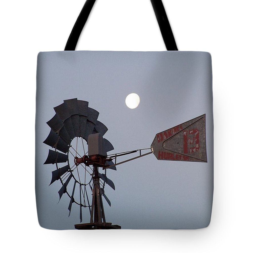 Windmill Tote Bag featuring the photograph Windmill Moon by Gale Cochran-Smith