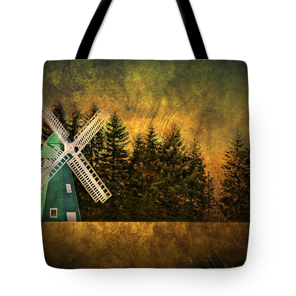 Brimfield Tote Bag featuring the photograph Windmill On My Mind by Evelina Kremsdorf
