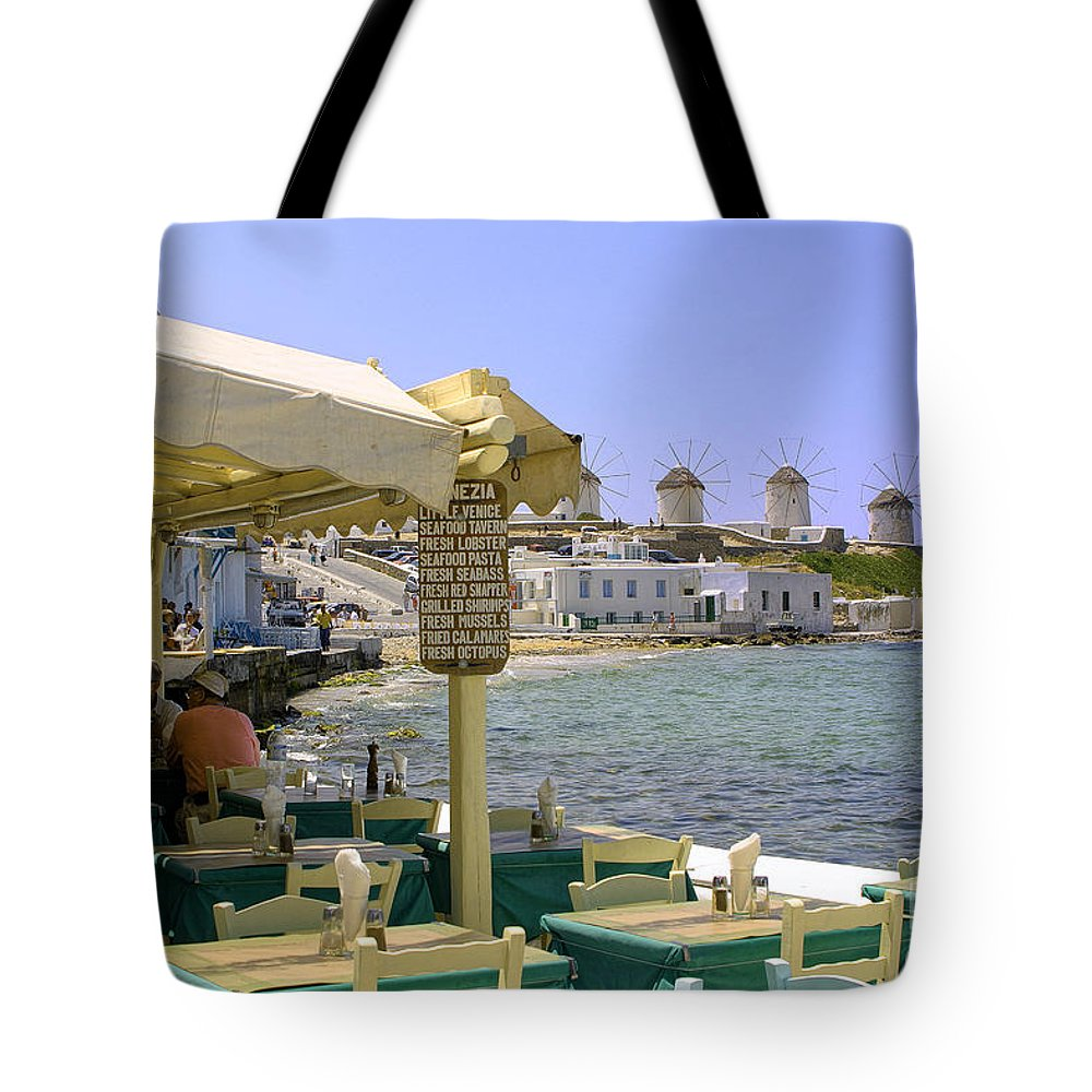 Windmills Tote Bag featuring the photograph Windmill View by Madeline Ellis