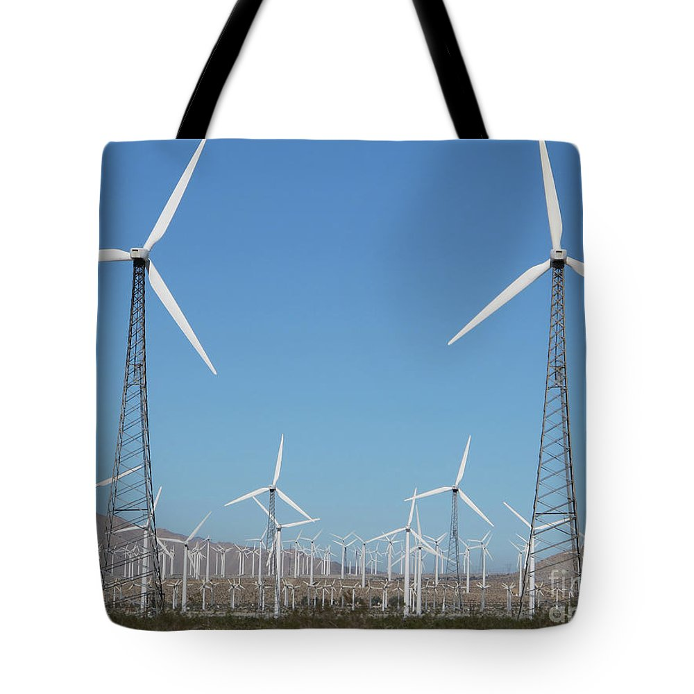 Windmills Tote Bag featuring the photograph Windmills by Marc Stuelken