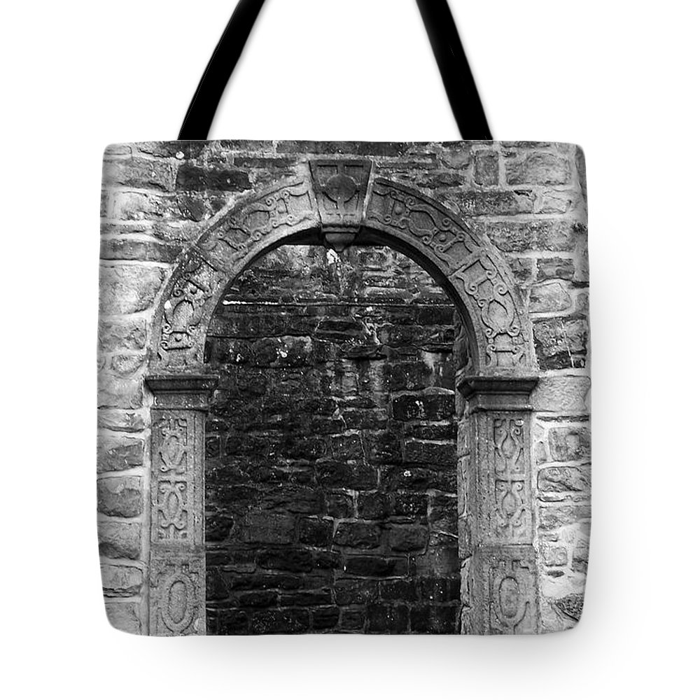 Irish Tote Bag featuring the photograph Window at Donegal Castle Ireland by Teresa Mucha