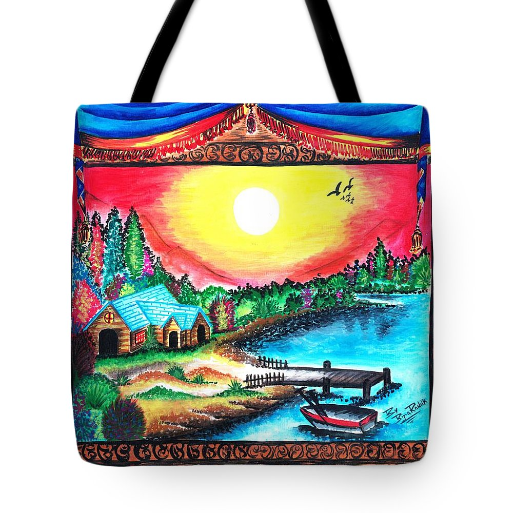 Window Tote Bag featuring the painting Window by Bijna Balan