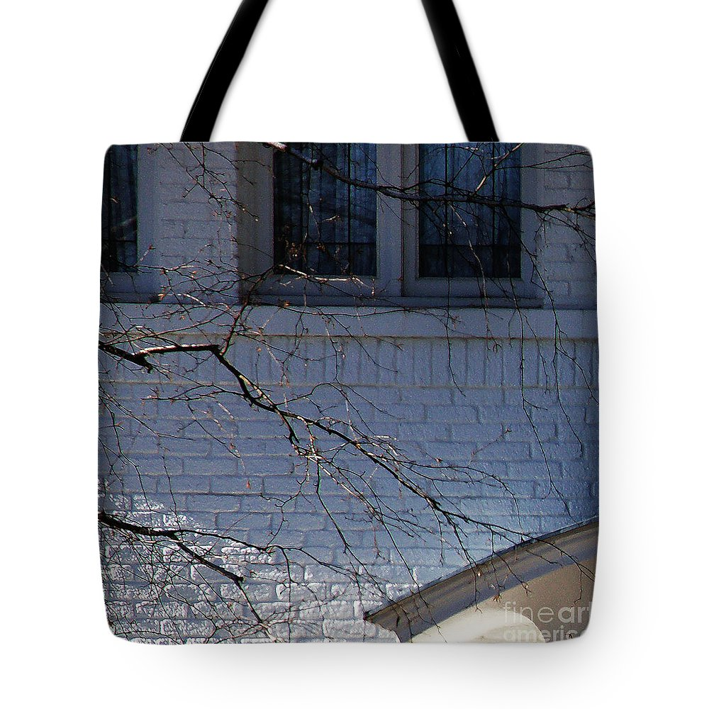 Window Tote Bag featuring the photograph Window Blue - 1 by Linda Shafer