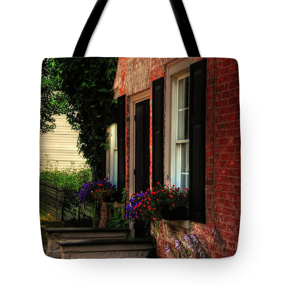 Window Boxes Tote Bag featuring the photograph Window Boxes by Lois Bryan