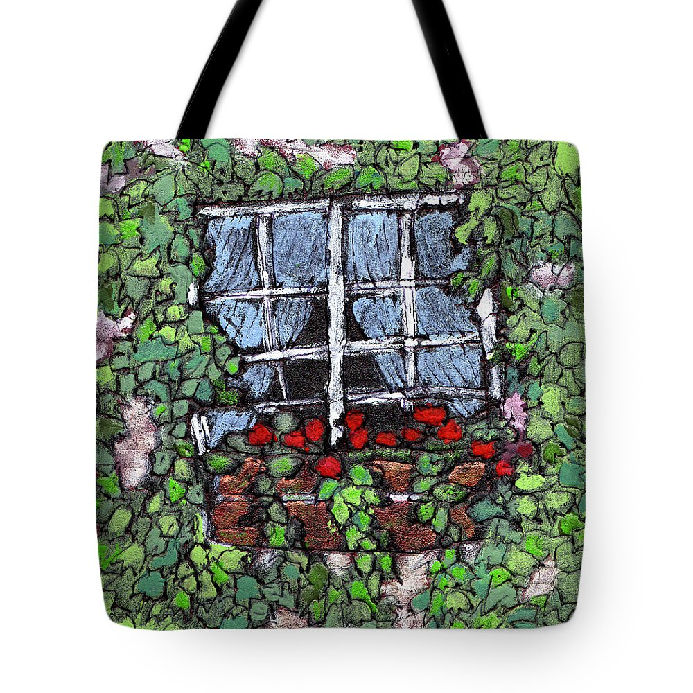 Flowers Tote Bag featuring the painting Window Flower Box by Wayne Potrafka