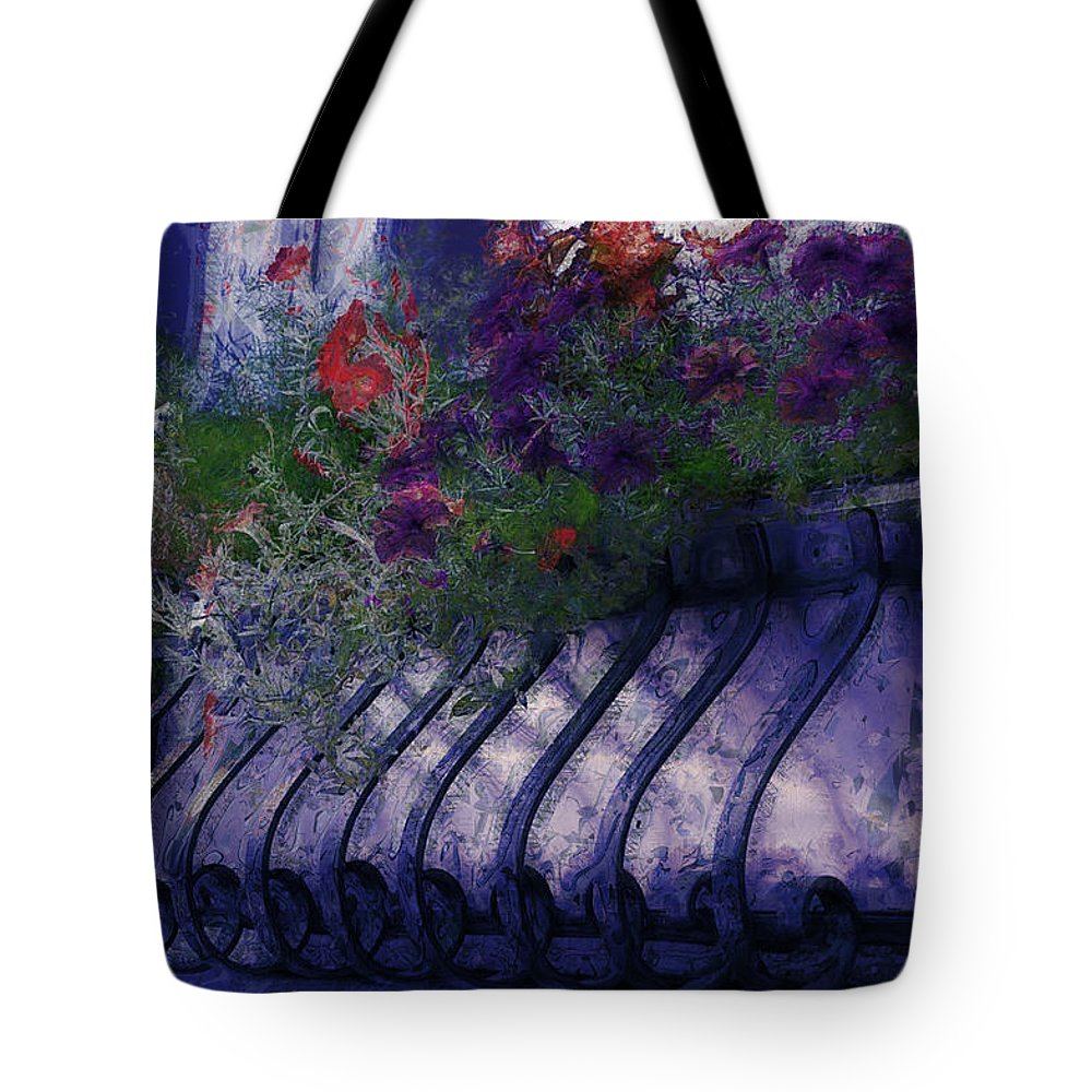 Flowers Tote Bag featuring the photograph Window Flowerbox by Donna Bentley