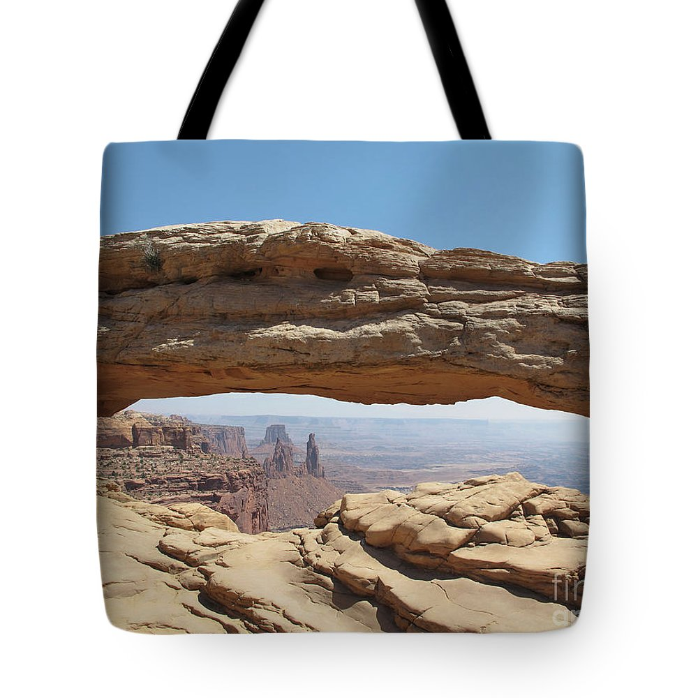 Arches Tote Bag featuring the photograph Window In The Sky by Marc Stuelken