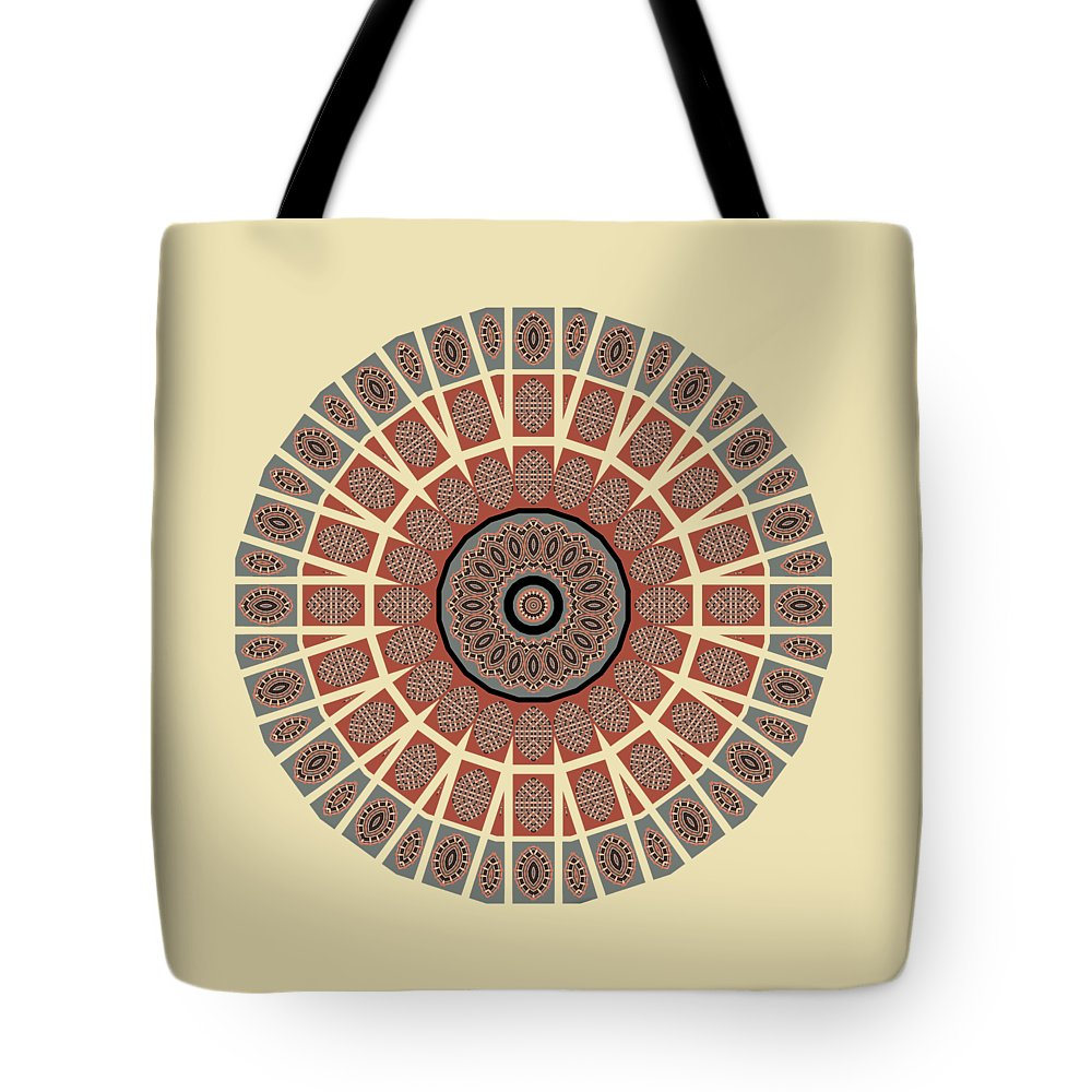 Window Tote Bag featuring the photograph Window Mosaic - Mandala - Transparent by Nikolyn McDonald