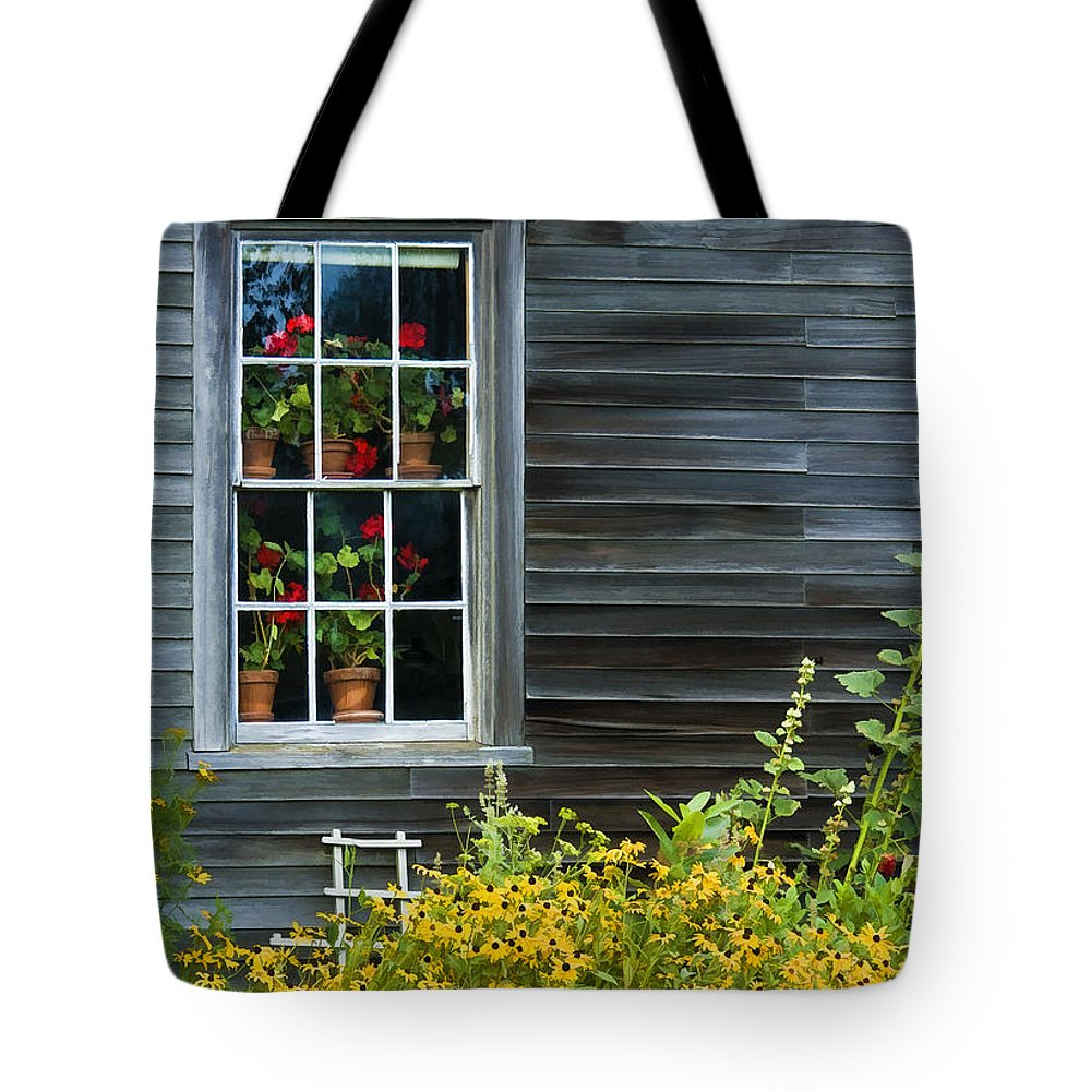 Olson House Tote Bag featuring the photograph Window Of Olson House by Sharon M Connolly