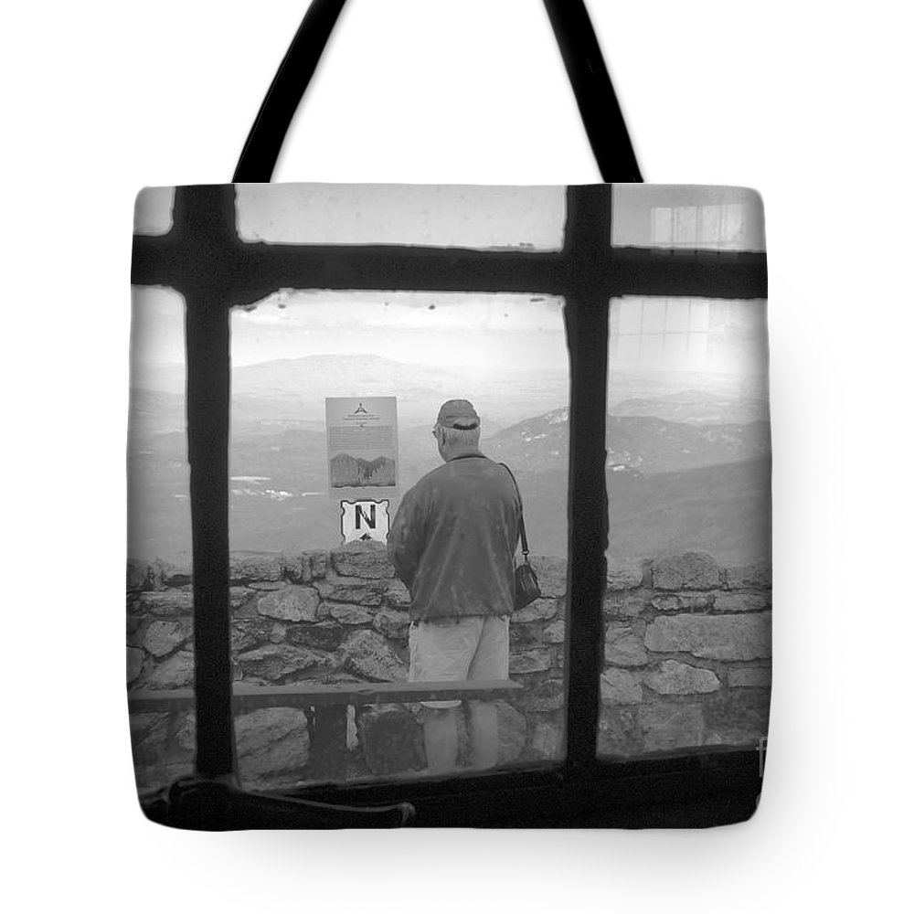 Windows Tote Bag featuring the photograph Window On White Mountain by David Lee Thompson