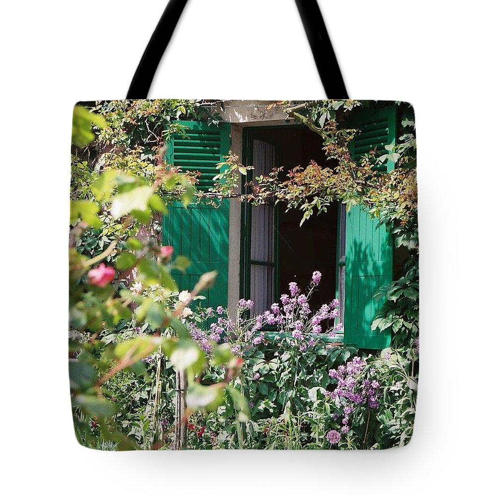 Charming Tote Bag featuring the photograph Window To Monet by Nadine Rippelmeyer
