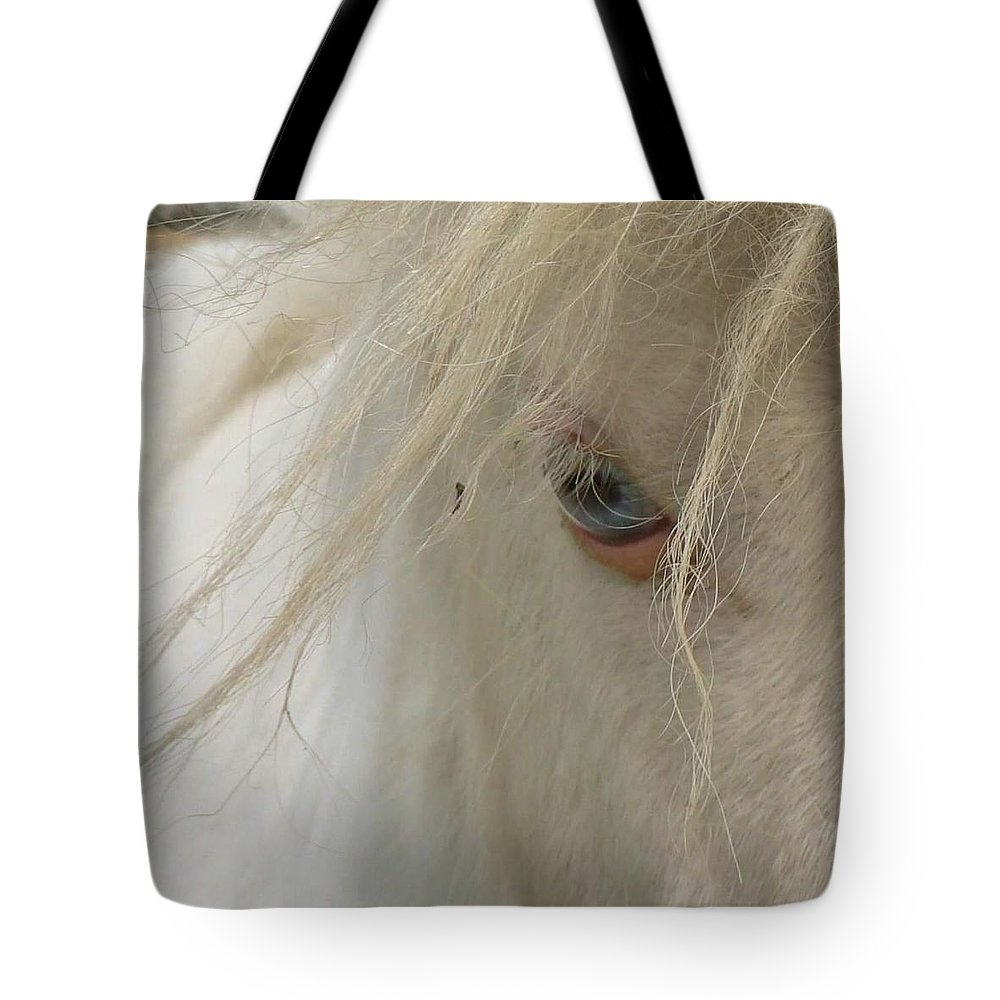 Horse. Eyes Tote Bag featuring the photograph Window To The Soul by Melissa Haney