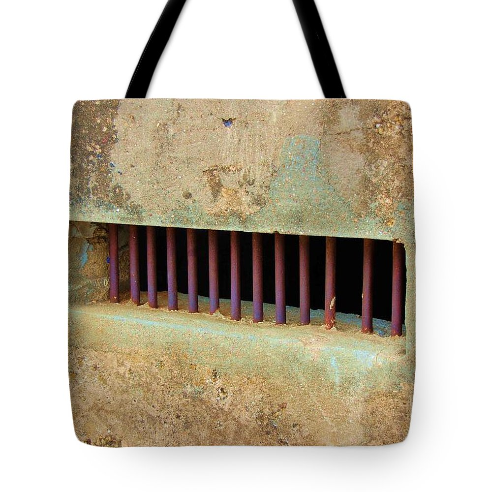 Jail Tote Bag featuring the photograph Window To The World by Debbi Granruth