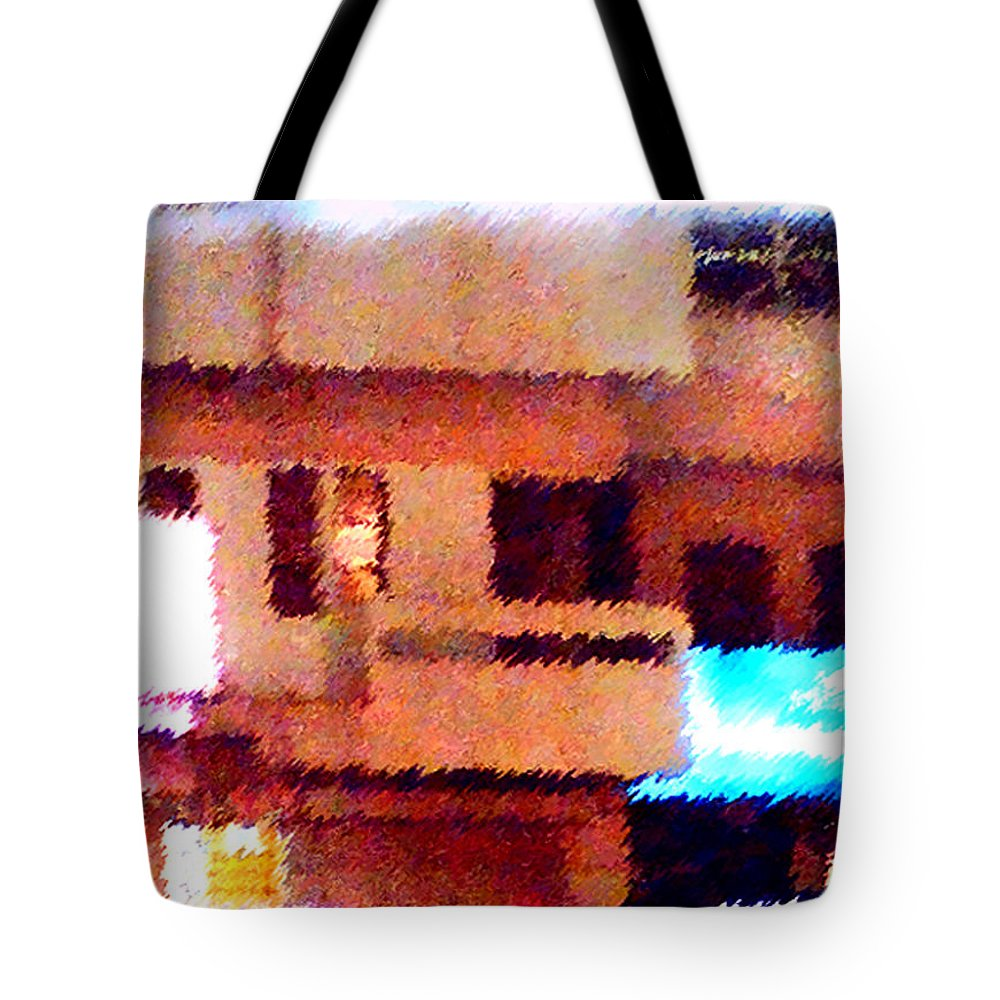 Digital Art Tote Bag featuring the painting Windows by Anil Nene