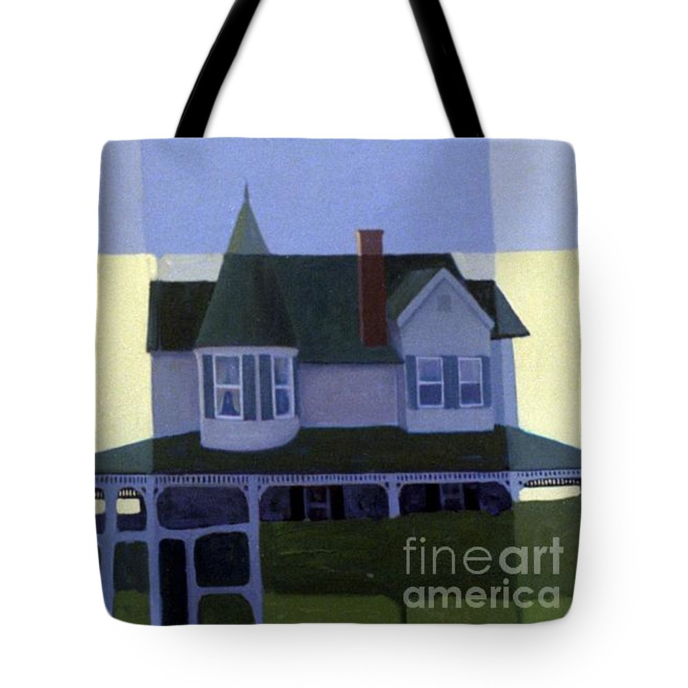 Victorian House Tote Bag featuring the painting Windows by Donald Maier