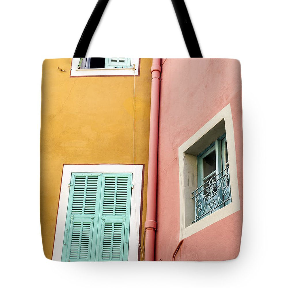 Window Tote Bag featuring the photograph Windows In Villefranche-sur-mer by Elena Elisseeva