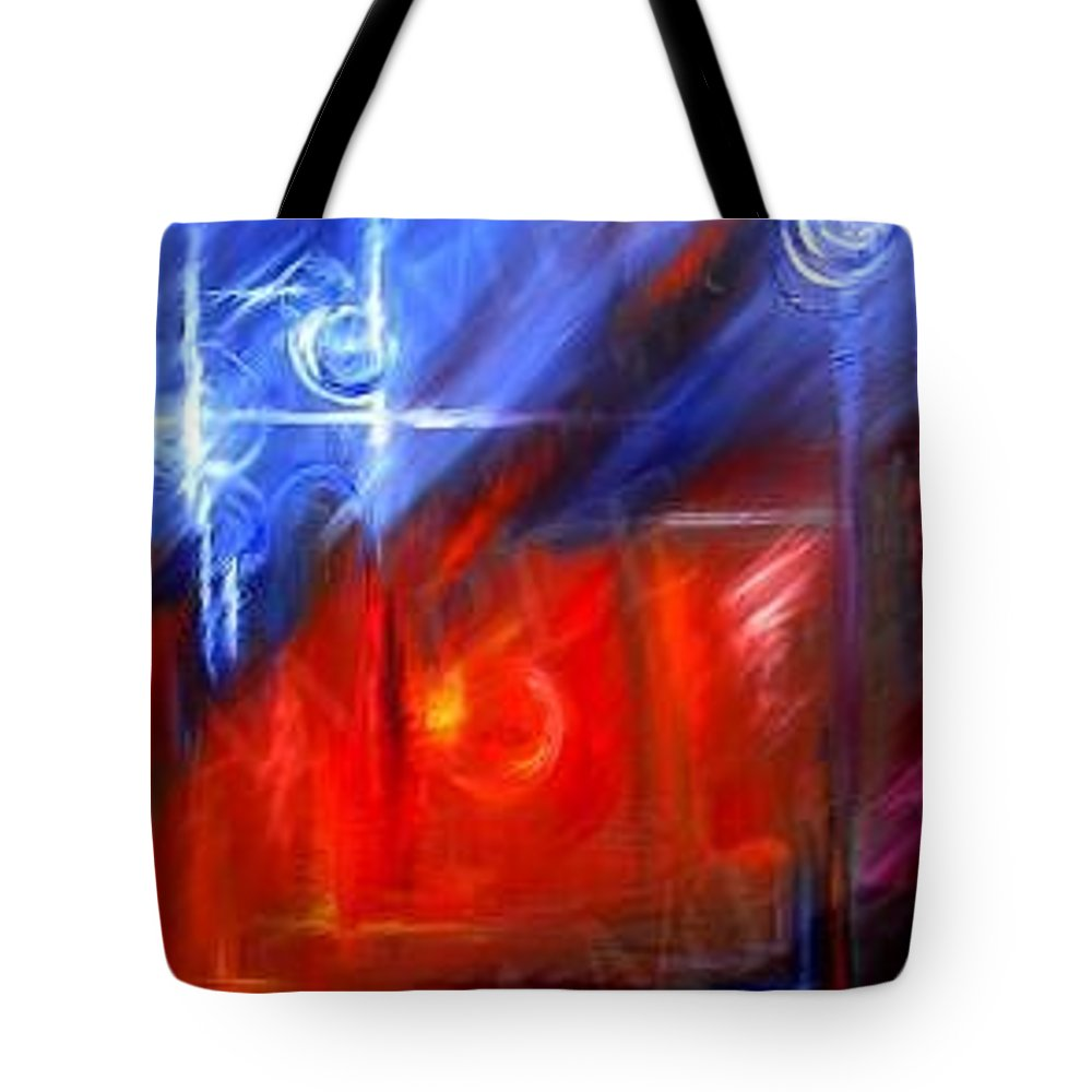 Abstracts Tote Bag featuring the painting Windows by James Christopher Hill