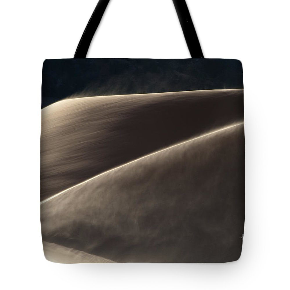 Southwest Tote Bag featuring the photograph Windswept Dunes by Sandra Bronstein