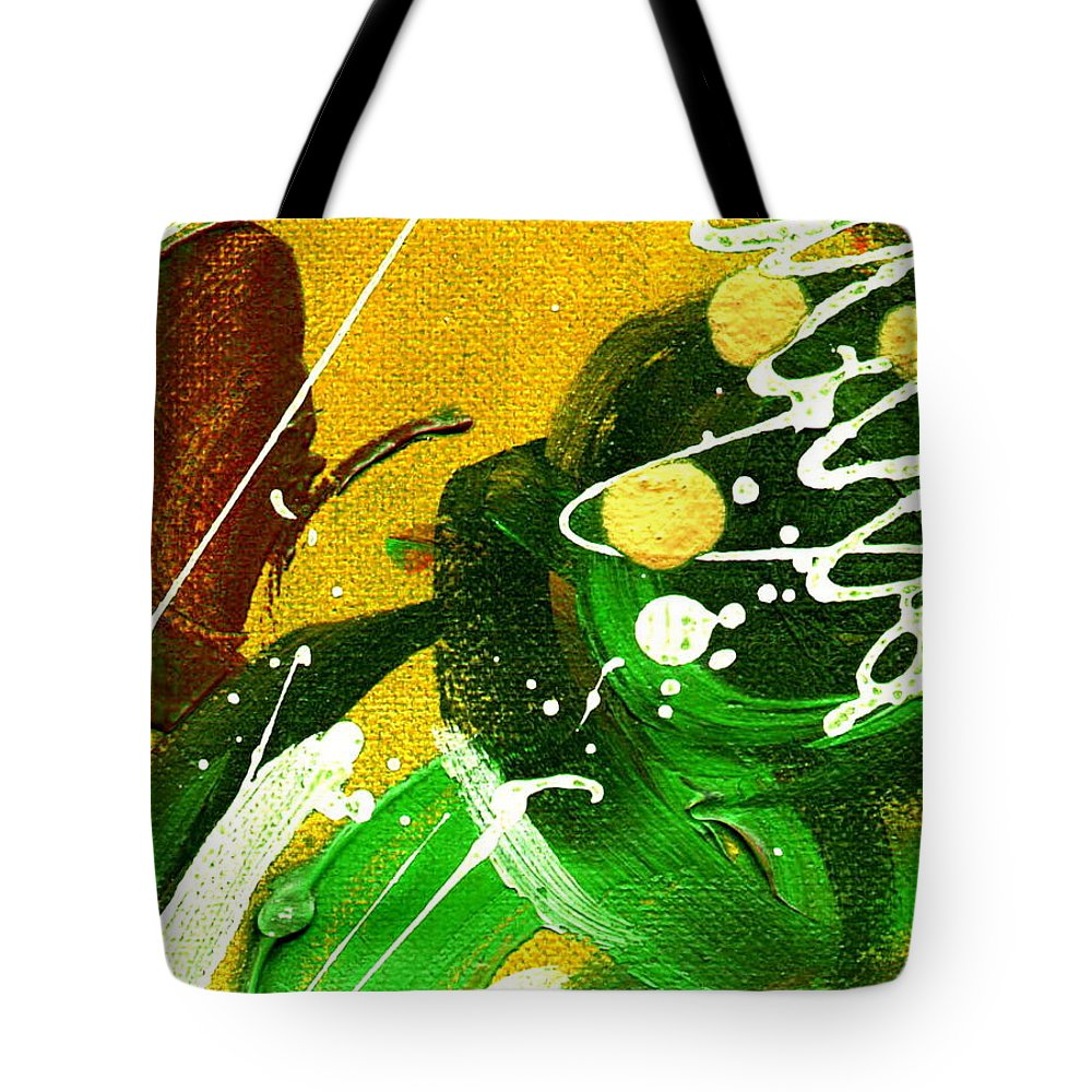 Abstract Tote Bag featuring the painting Windswept II by Angela L Walker