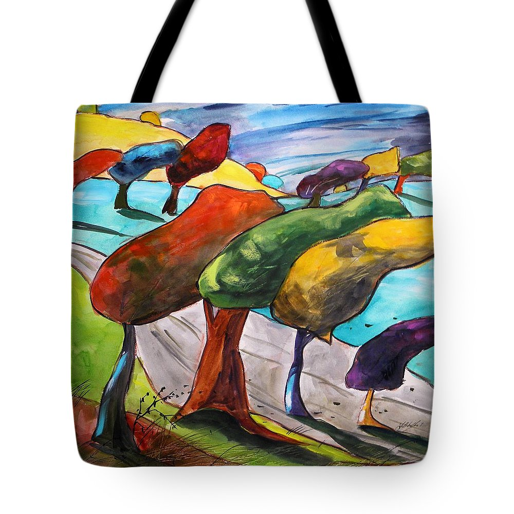 Morning Tote Bag featuring the painting Windswept Morning by John Williams