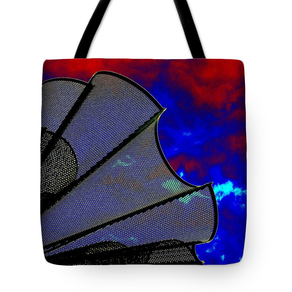 Windy Tote Bag featuring the photograph Windy 3 by Tim Allen