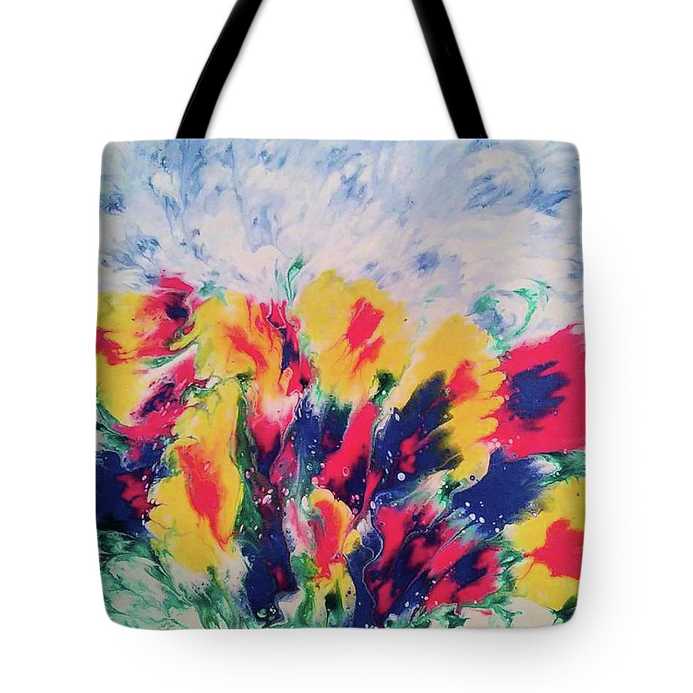 Decorative Wall Art Tote Bag featuring the painting Windy Garden by Diana Robbins