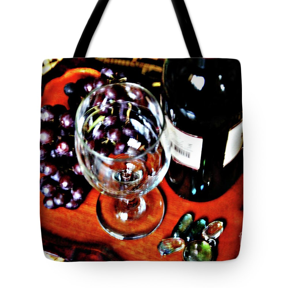 Wine Tote Bag featuring the photograph Wine And Dine by Don Baker