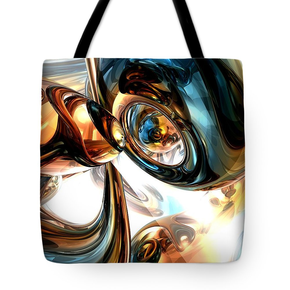 3d Tote Bag featuring the digital art Wine And Spirits Abstract by Alexander Butler