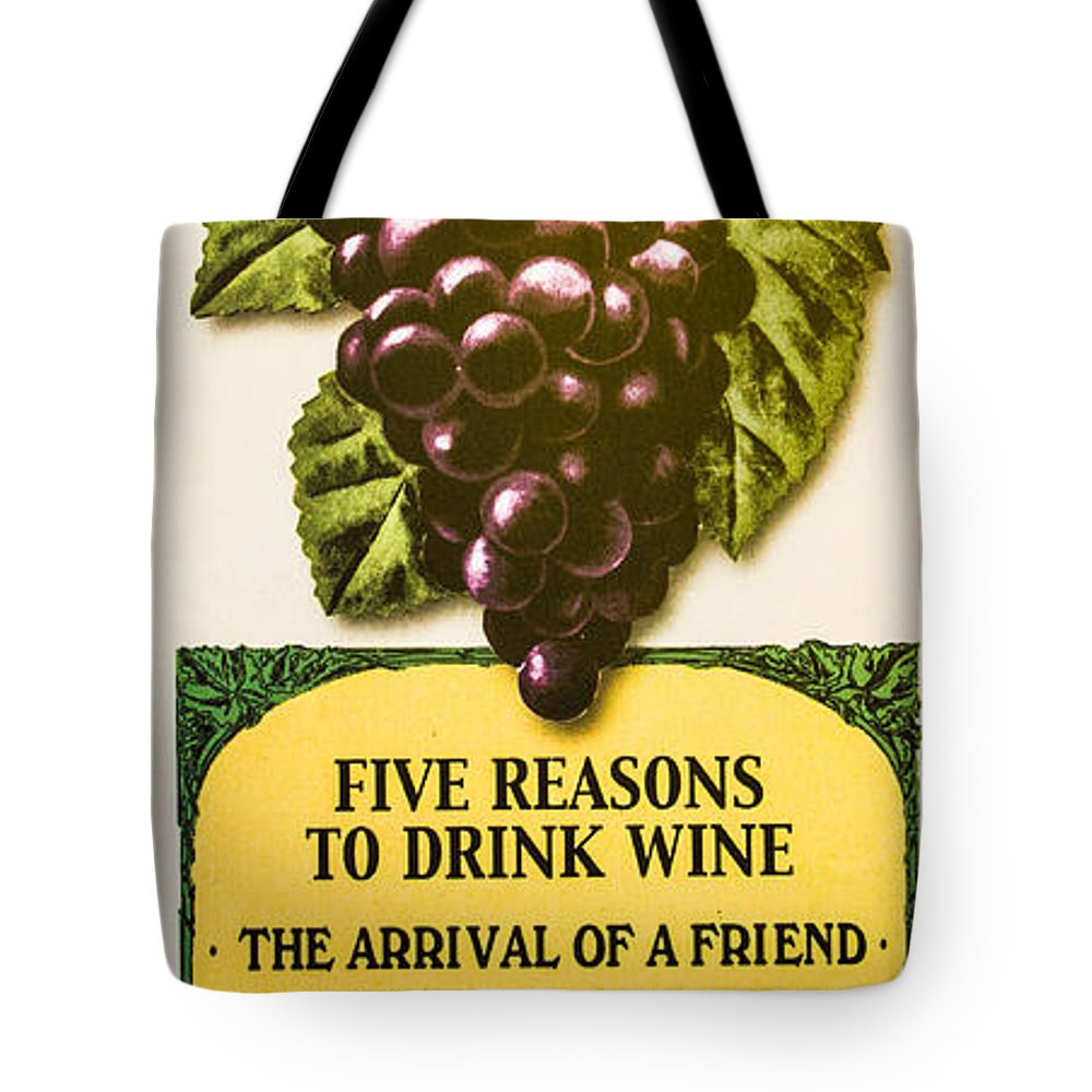 Wine Tote Bag featuring the photograph Wine Bar by Roger Mullenhour