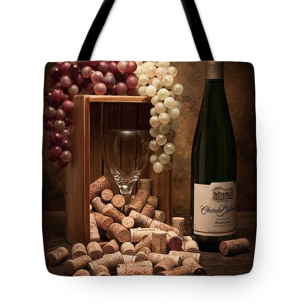 Wine Cork Tote Bag featuring the photograph Wine Corks Still Life II by Tom Mc Nemar