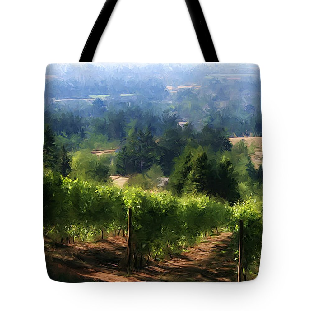 Wine Tote Bag featuring the photograph Wine Country by Sherrie Triest