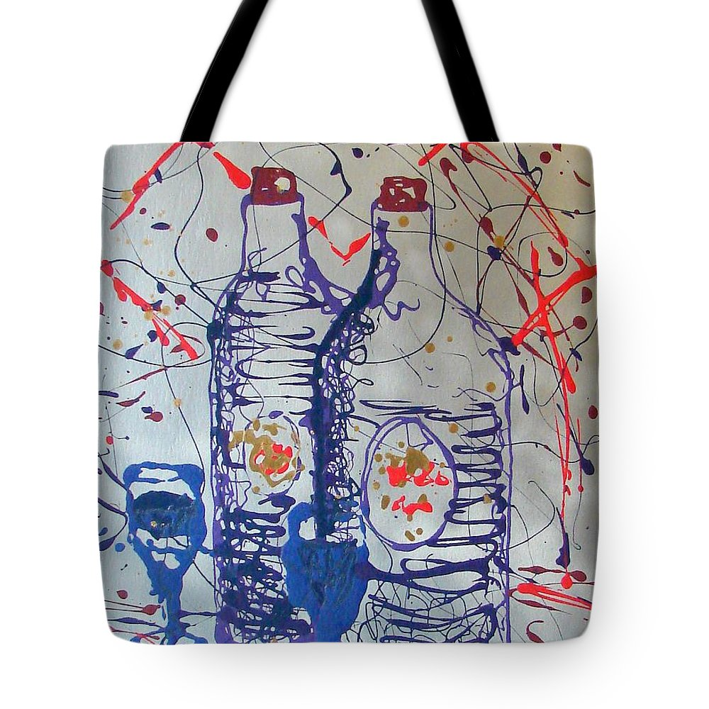 Impressionist Painting Tote Bag featuring the painting Wine Jugs by J R Seymour