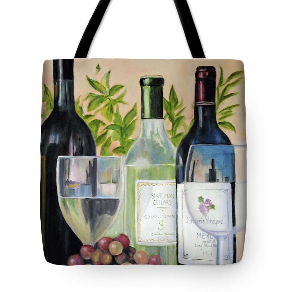 Wine Tote Bag featuring the painting Wine Time by Carolyn Shireman