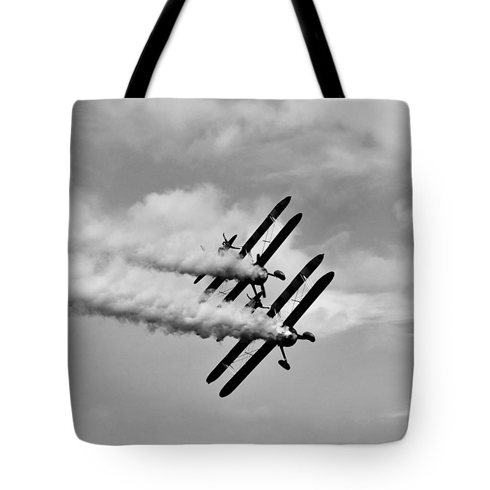 Plane Tote Bag featuring the photograph Wing Walkers by Richard Clement