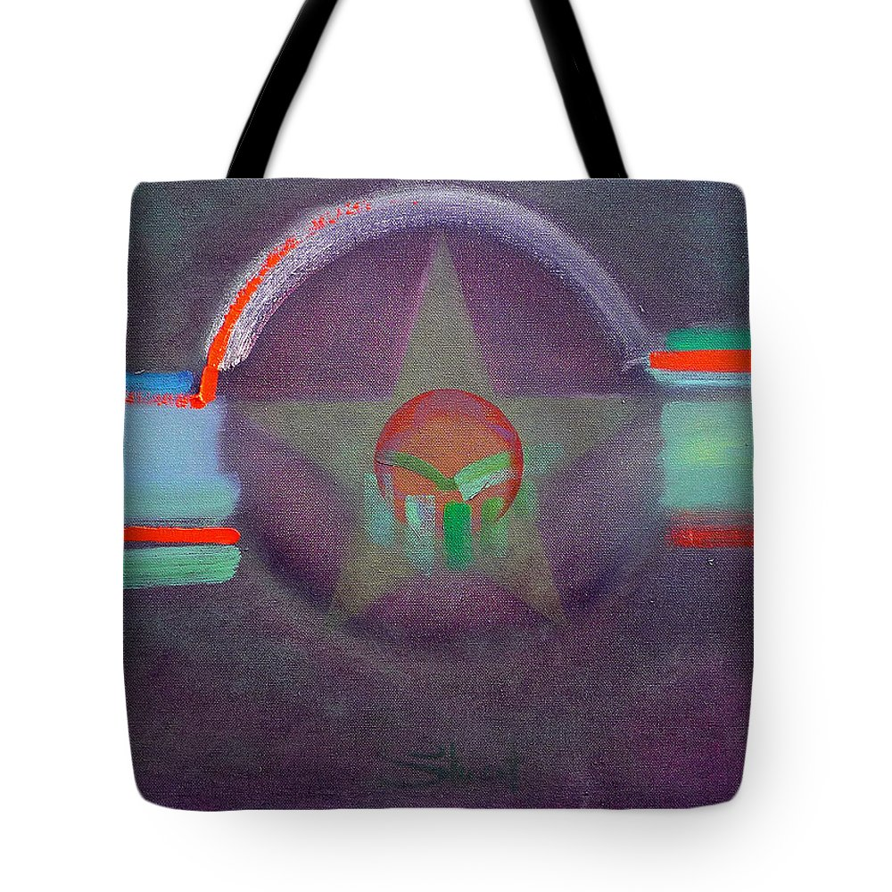 Star Tote Bag featuring the painting Wings Vermillion  by Charles Stuart