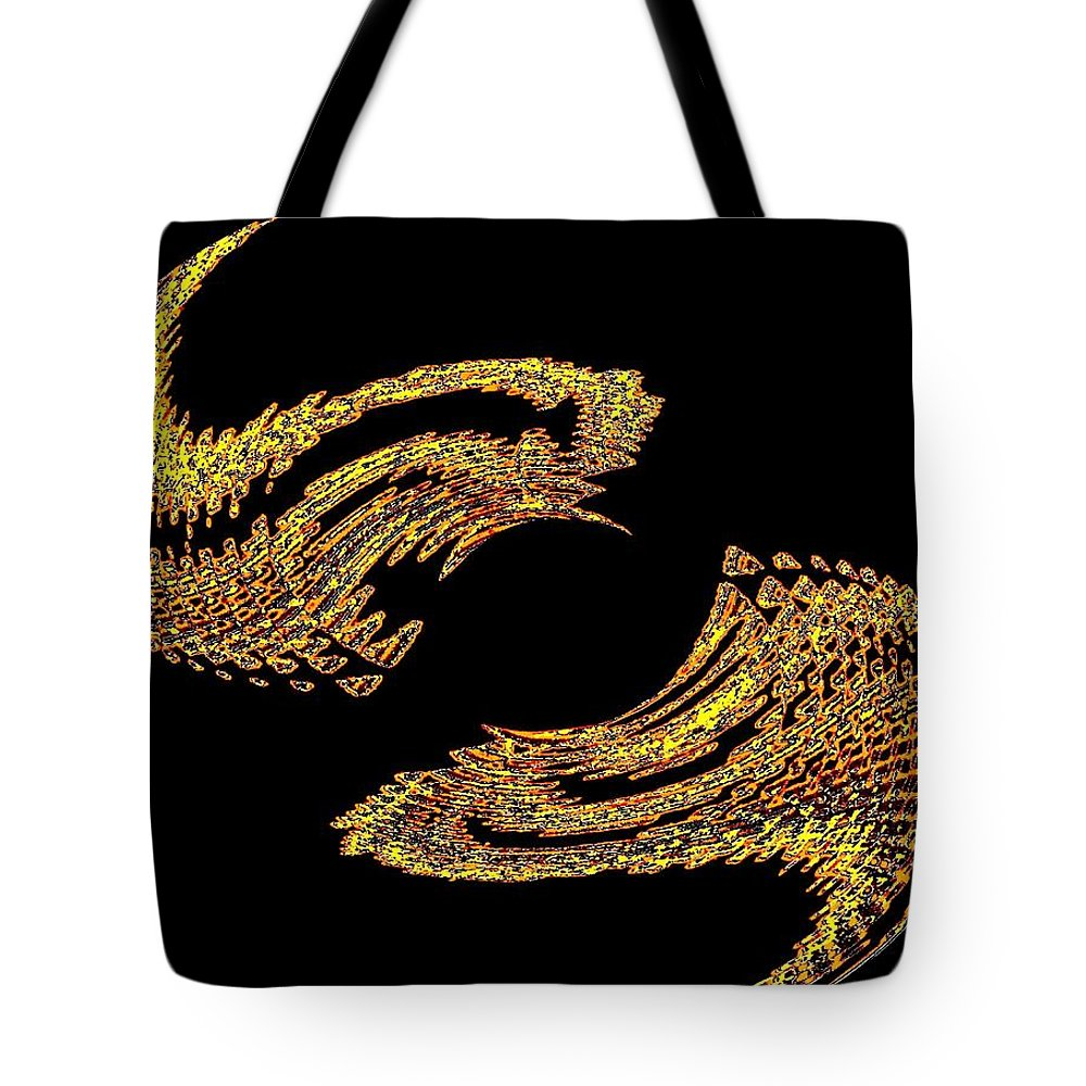 Abstract Tote Bag featuring the digital art Wings by Will Borden