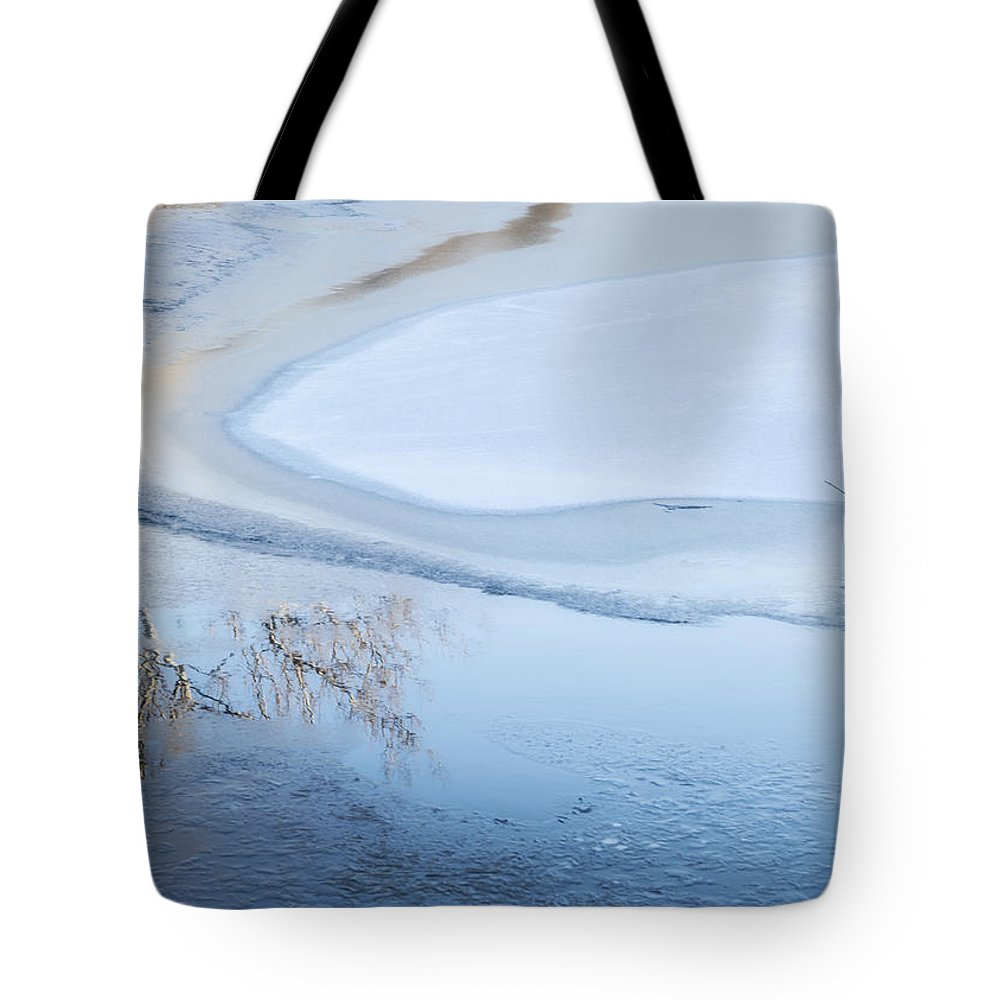 Winter Tote Bag featuring the photograph Winter Abstract by Lindley Johnson
