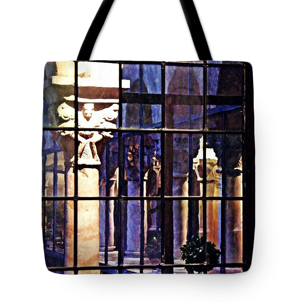 Cloister Tote Bag featuring the photograph Winter Afternoon At The Cloisters 4 by Sarah Loft