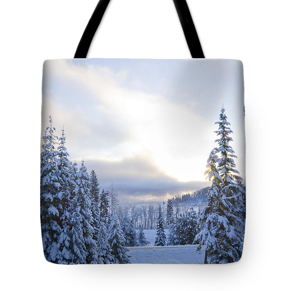 Winter Tote Bag featuring the photograph Winter Atmosphere by Idaho Scenic Images Linda Lantzy